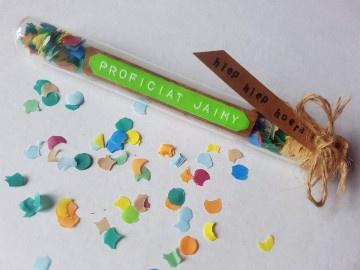 Proficiat Gefeliciteerd & voornaam - Flessenpost + confetti