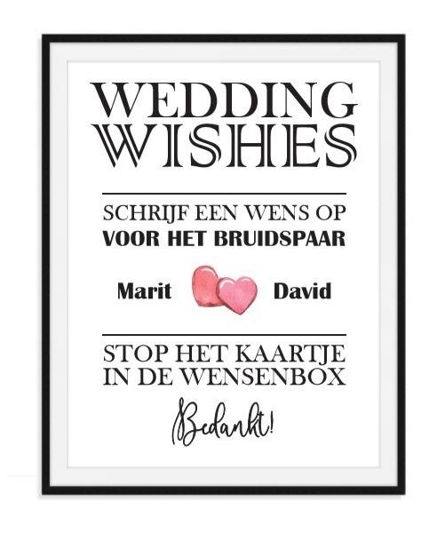 Wenskaarten Poster met namen