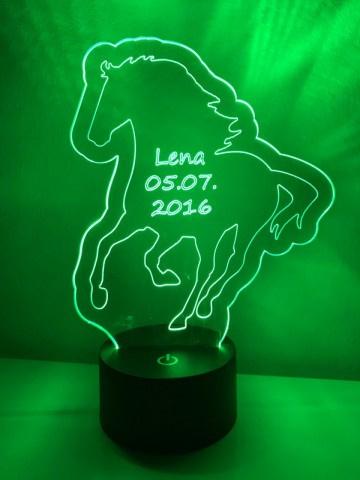 LED Lamp Paard met Naam + Datum