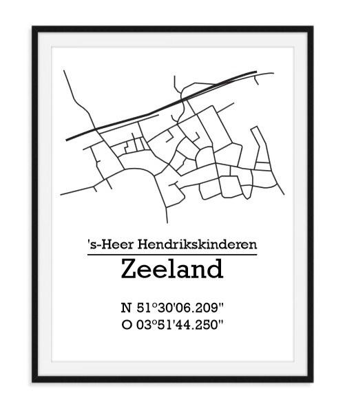 Plattegrond 's-Heer Hendrikskinderen - Lijntekening