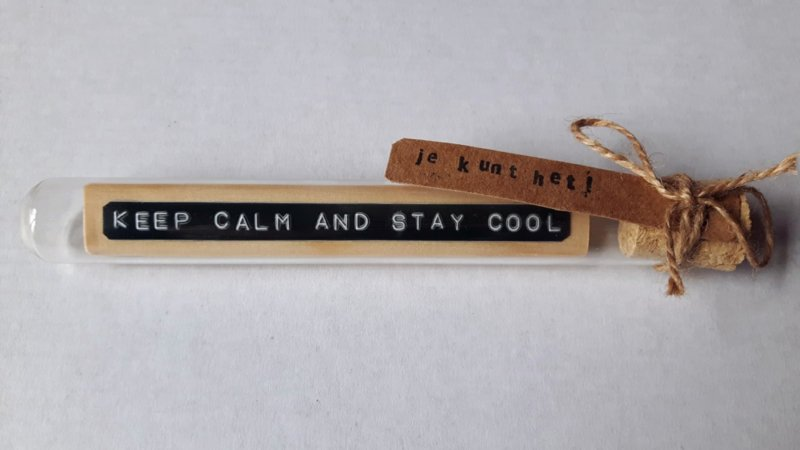 Keep calm and stay cool - Flessenpost