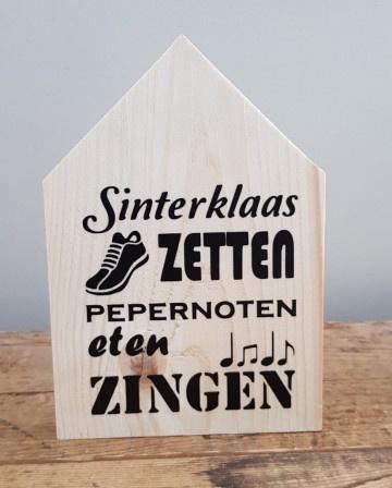 Sinterklaas huisje Schoentje zetten