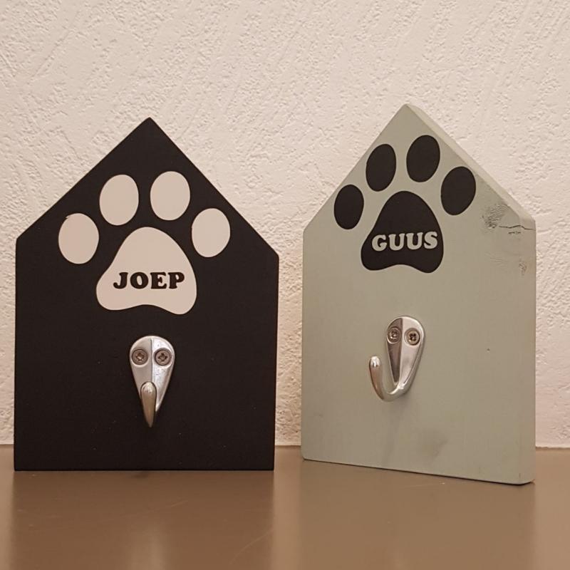 Kapstok honden met naam / namen
