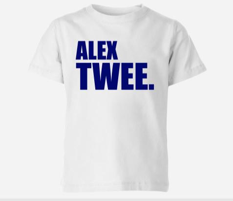 Shirt met naam en leeftijd in letters