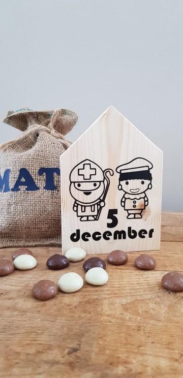 Sinterklaas huisje Sint en Piet 5 december