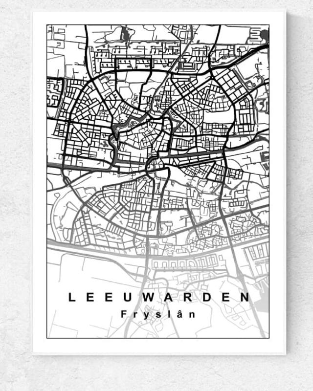 Plattegrond Leeuwarden - Lijntekening doorlopend