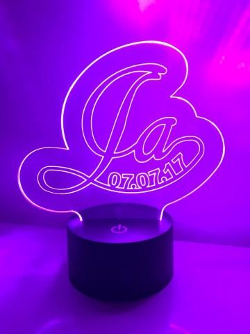 LED Lamp Ja met Datum cursief