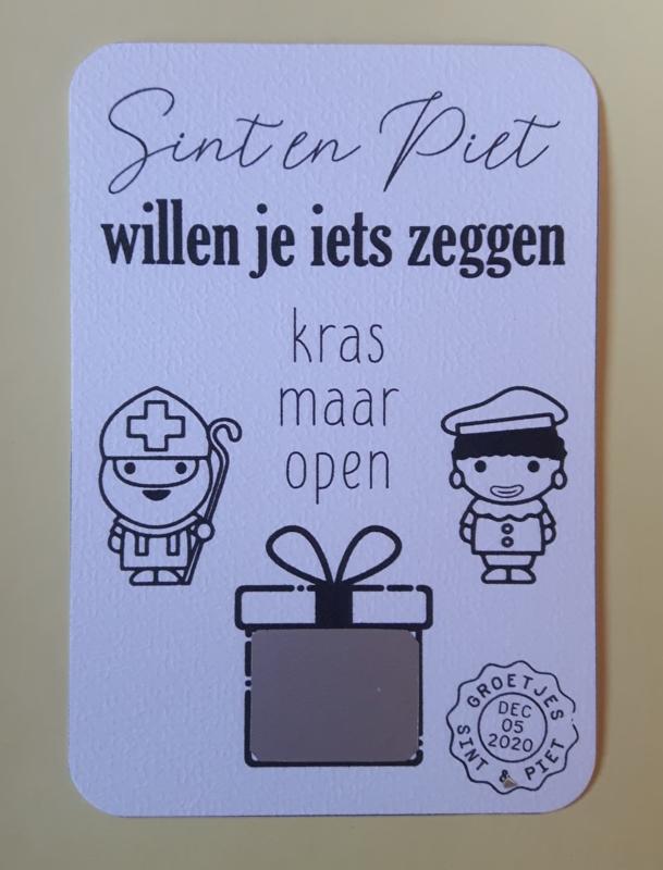 Kraskaart Sint en Piet