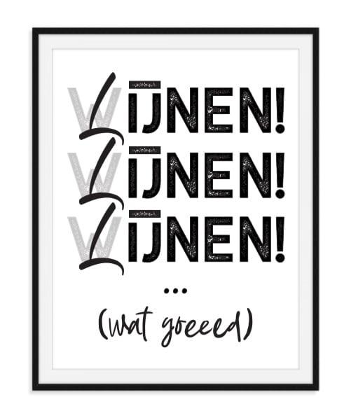 Wijnen Lijnen Poster