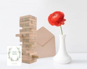 Bouwtoren gastenboek trouwdag