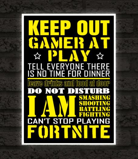 Gamer fan poster met spel naar keuze