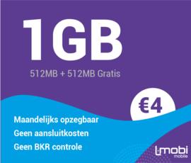 Sim only 1GB