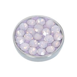 Top Part Light Pink Stone Zilver