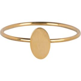 Charmin*s Minimalist Oval Gold Steel R719