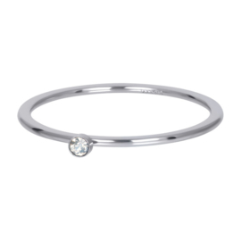 iXXXi Vulring 1 mm Blond Flare 1 Stone Crystal Zilver