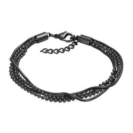 iXXXi Armband Snake Ball Slim 4pcs Zwart