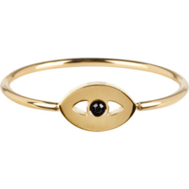 Charmin*s Ring Mistique Eye Gold Steel R764