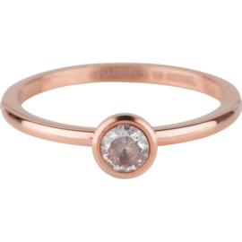 Charmin*s Ring Stylish Bright Rosé Gold Steel R490