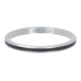iXXXi Vulring 2 mm Line Black Matt Zilver
