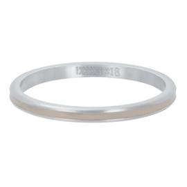 iXXXi Vulring 2 mm Line Sand Mat Zilver