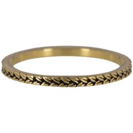 Charmin*s Ring Gold 'Steel Braids' R448