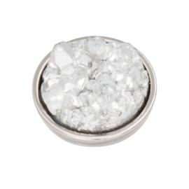Top Part Drusy Crystal Zilver