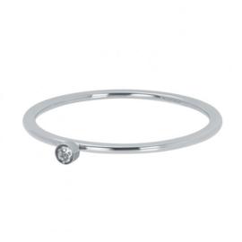 iXXXi Vulring 1 mm Zirconia 1 Stone Crystal Zilver