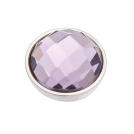 Top Part Facet Purple Zilver