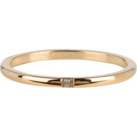 Charmin*s Ring Precious Gold Steel R744