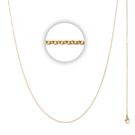 Collier 1 mm With Logo Goud