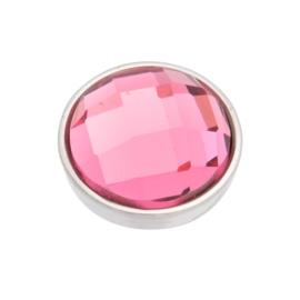 Top Part Facet Pink Zilver