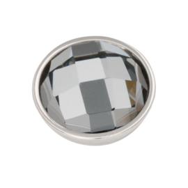 Top Part Facet Black Diamond Zilver