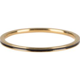 Charmin*s Petite Gold Steel Black Enamel R699
