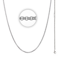 Collier 3 mm With Logo Zilver