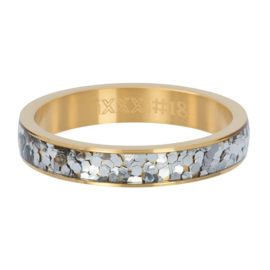 iXXXi Vulring 4 mm Glitter Confetti Goud