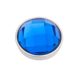 Top Part Facet Capri Blue Zilver