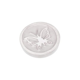 Top Part Butterfly Zilver