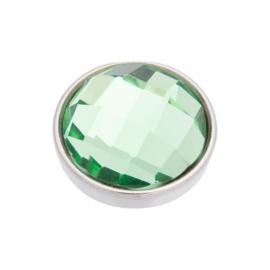 Top Part Facet Green Zilver