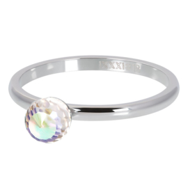 iXXXi Vulring 2 mm Crystall Glass Ball AB Zilver