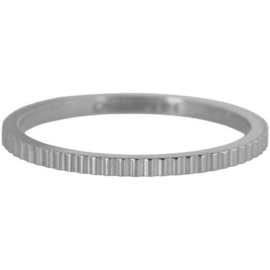 Charmin*s Ring Steel 'Shiny Bricks' R398