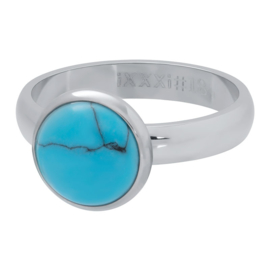iXXXi Vulring 4 mm 1 Blue Turquoise Stone 12 mm Zilver