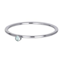 iXXXi Vulring 1 mm Green 1 Stone Crystal Zilver