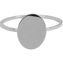 Charmin*s Modern Oval  Shiny Steel R714
