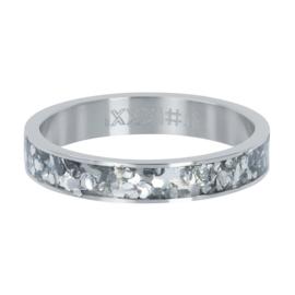 iXXXi Vulring 4 mm Glitter Confetti Zilver