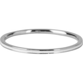 Charmin*s Ring Petite Shiny Steel White Enamel R696