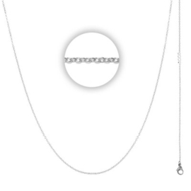 Collier 1 mm With Logo Zilver