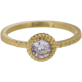 Charmin*s Ring Gold 'Steel Iconic' R436