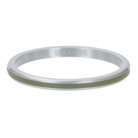 iXXXi Vulring 2 mm Line Olivina Mat Zilver