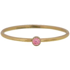 Charmin*s Ring Shine Bright Rose Gold Steel KR82