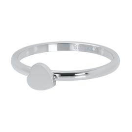 iXXXi Vulring 2 mm Symbol Heart Zilver